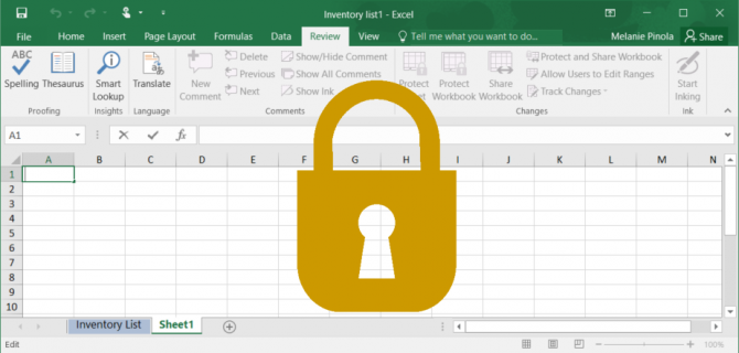 Excel file locked with password
