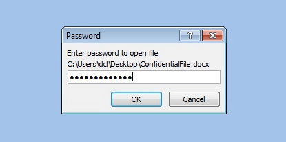 Password to open a MS Word document